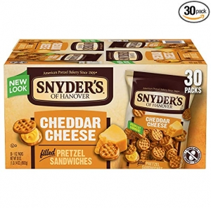 ihocon: Snyder's of Hanover Pretzel Sandwiches, Cheddar Cheese, Single-Serve 1 Ounce, 30 Count