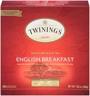 ihocon: Twinings of London English Breakfast Black Tea Bags, 100 Count (Pack of 1) 紅茶茶包