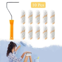 ihocon: ESSORT 4 Paint Roller with 10 Pcs Replacement Roller Covers 油漆滾筒