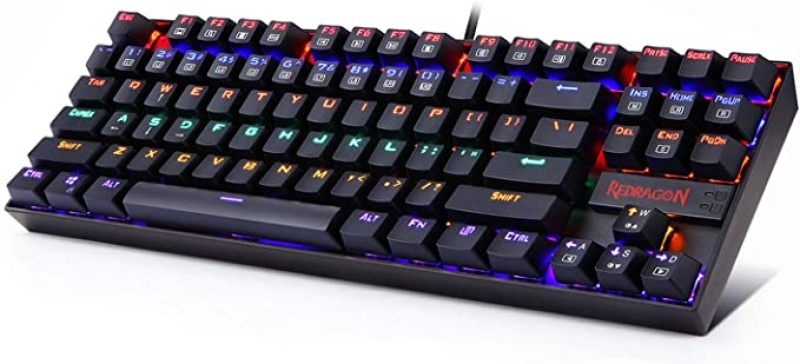 ihocon: Redragon K552 Mechanical Gaming Keyboard with Red Switches for Windows Gaming PC (87 Keys)彩虹背光機械遊戲鍵盤(有線鍵)