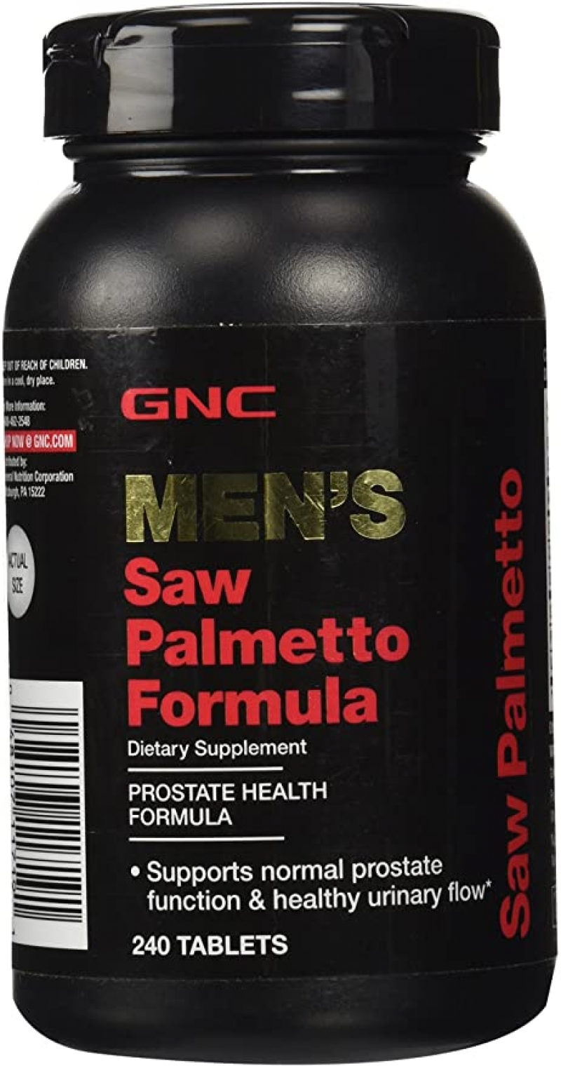 ihocon: GNC Men's Saw Palmetto Formula, 240 Tablets 男士鋸棕櫚 (支持前列腺功能)