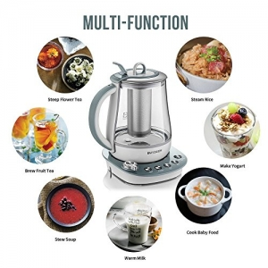ihocon: Buydeem K2683 Health-Care Beverage Tea Maker and Kettle, 9-in-1 Programmable Brew Cooker Master, 1.5 L, Gray   北鼎養生壺/煎藥壺