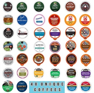 ihocon: Coffee Variety Pack  Sampler - Coffee Pods for Keurig K Cup Machine, 40 Count 咖啡膠囊