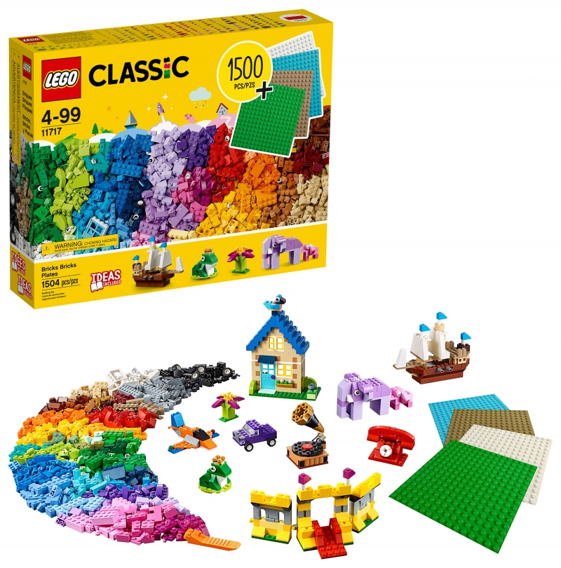 ihocon: 樂高積木 LEGO Classic Bricks Bricks Plates 11717 Building Toy (1504 Pieces)