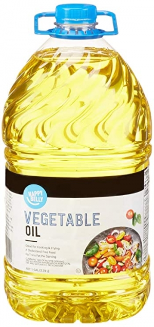 ihocon: [Amazon自家品牌] Happy Belly Vegetable Oil, 1 Gallon (128 Fl Oz) 蔬菜油