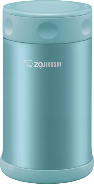 ihocon: Zojirushi Stainless Steel Food Jar 25 oz. / 0.75 Liter, Aqua Blue 不銹鋼保温便當