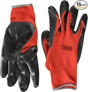 ihocon: Grease Monkey General Purpose Nitrile Coated Work Gloves, Size Large - Pack of 15 工作手套