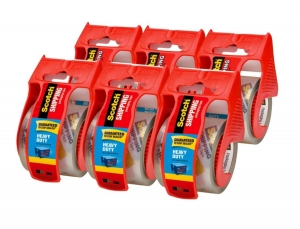 ihocon: 6-Pack Scotch Heavy Duty Shipping Packaging Tape with Dispenser (142-6)封箱膠帶