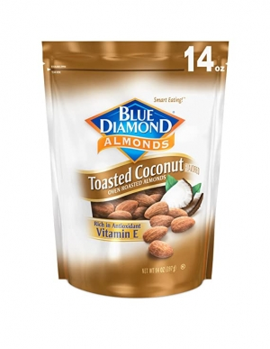 ihocon: Blue Diamond Gluten Free Almonds, Toasted Coconut, 14 Ounce 杏仁