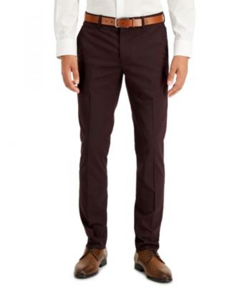 ihocon: Perry Ellis Portfolio Men's Skinny-Fit Non-Iron Performance Stretch Pattern Dress Pants   男士長褲-多色可選