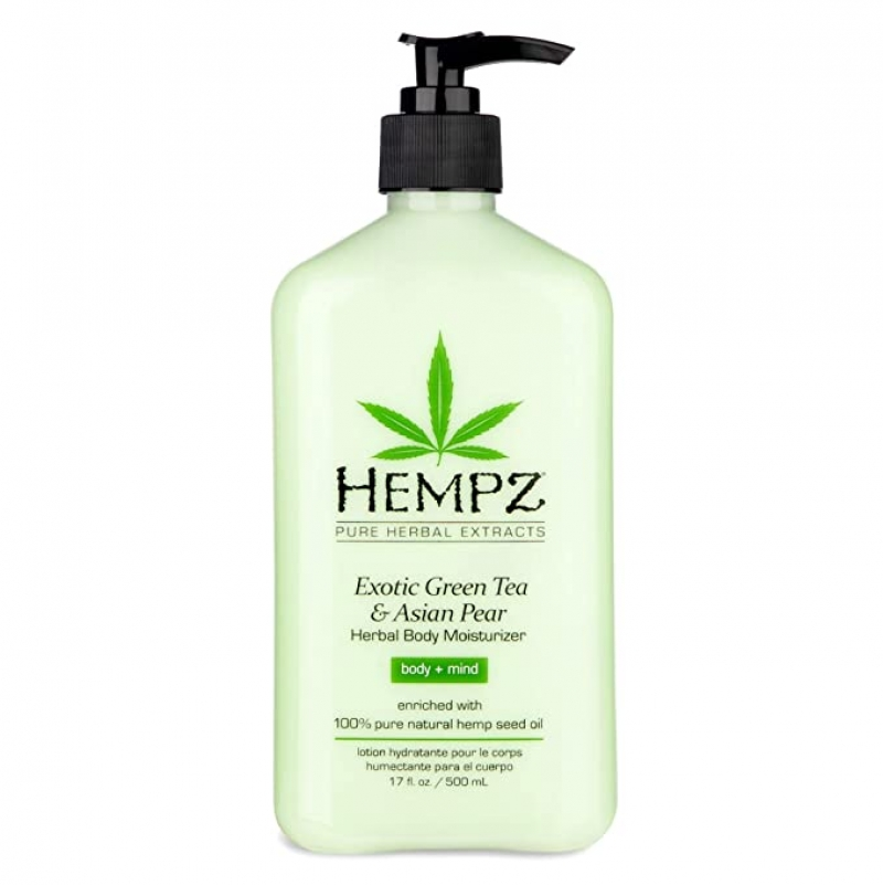 ihocon: Exotic Natural Herbal Body Moisturizer with Pure Hemp Seed Oil, Green Tea and Asian Pear, 17 Fluid Ounce -天然草本身體保濕乳