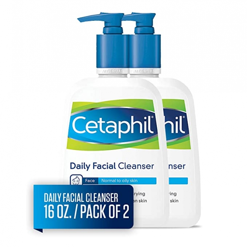 ihocon: Cetaphil Facial Cleanser,aily Face Was Dh for Normal to Oily Skin, 16Oz (Pack of 2) 洗面乳