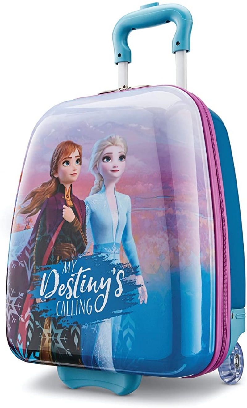 ihocon: American Tourister Kids' Disney Hardside Upright Luggage, Frozen Destiny, Carry-On 16-Inch 迪士尼冰雪奇緣硬殼行李箱