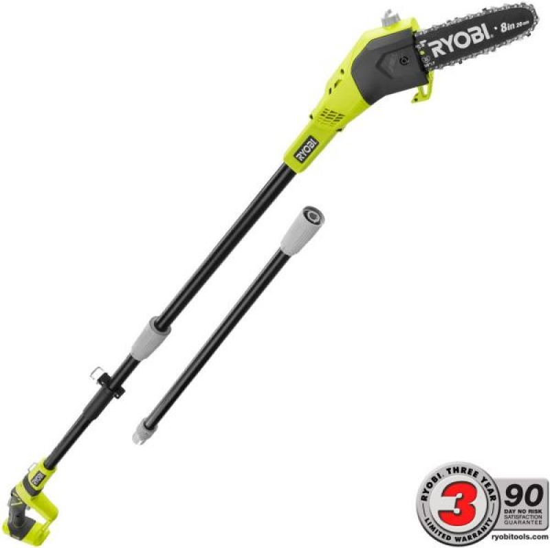 ihocon: RYOBI ONE+ 8 in. 18-Volt Lithium-Ion  Battery Pole Saw (Tool Only) 無線長桿電鋸 (工具only)