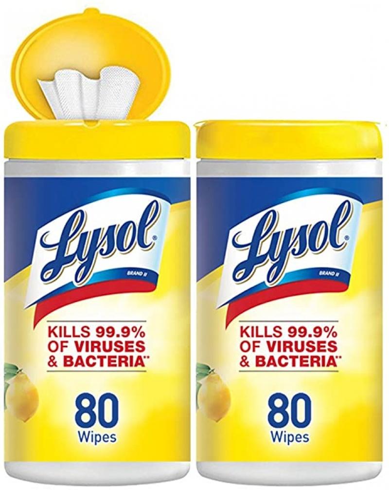 ihocon: Lysol Disinfecting Wipes消毒濕巾 80張2罐