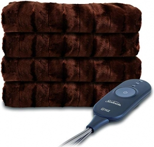 ihocon: Sunbeam Heated Throw Blanket | Microplush, 3 Heat Settings 電熱毯