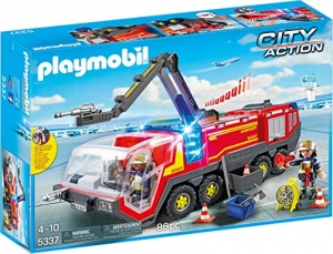 ihocon: PLAYMOBIL Airport Fire Engine with Lights & Sound Building Set 機場消防車(聲光玩具)