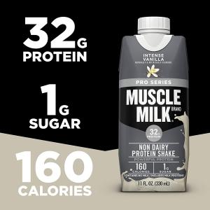 ihocon: Muscle Milk Pro Series Protein Shake, Intense Vanilla, 32g Protein, 11 FL OZ, 12 Count 蛋白質奶昔
