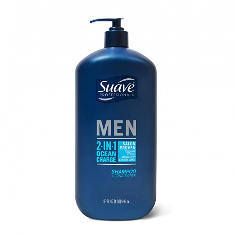 ihocon: Suave 2 in 1 Shampoo and Conditioner Ocean Charge 28 oz 洗髮/護髮乳