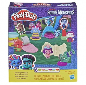 ihocon: Play-Doh Super Monsters Moonlight Magic Toolset with 6 Non-Toxic Colors 兒童黏土