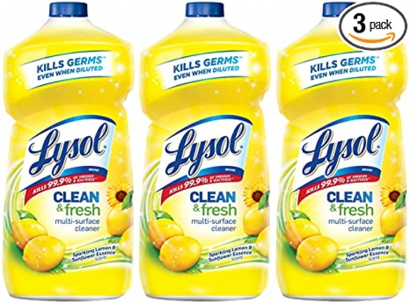 ihocon: Lysol Clean and Fresh Multi-Surface Cleaner, Lemon and Sunflower, 40 Ounce (Pack of 3) 萬用清潔劑