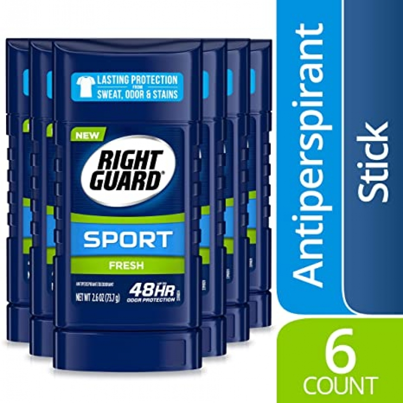 ihocon: Right Guard Sport Antiperspirant Deodorant Invisible Solid Stick, Fresh, 2.6 Ounce (Pack of 6)  止汗體香劑