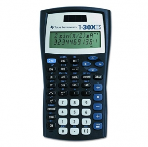ihocon: Texas Instruments TI-30X IIS 2-Line Scientific Calculator, Black with Blue Accents 德州儀器科學計算機