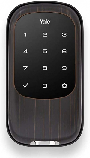 ihocon: Yale Security YRD120NR0BP Yale T1L Lock Oil Rubbed Bronze (YRD120) Key Free Touchscreen Deadbolt 智能門鎖