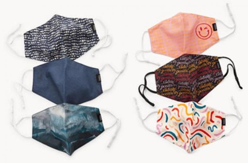 ihocon: Fossil Cotton Face Masks 布口罩2個或3個-多色可選