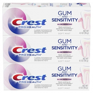 ihocon: Crest Pro-Health Gum and Sensitivity, Sensitive Toothpaste, All-Day Protection, (Pack of 3), 4.1 oz 牙膏