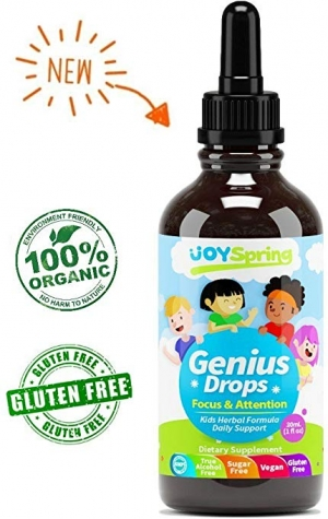 ihocon: JoySpring Genius Drops, from 100% Organic Herbs 兒童天然注意力, 補腦滴劑