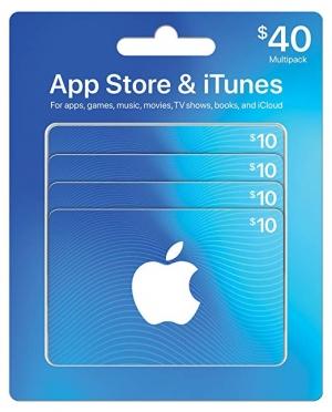 ihocon: $40 App Store & iTunes Gift Cards 禮卡($10元4張)