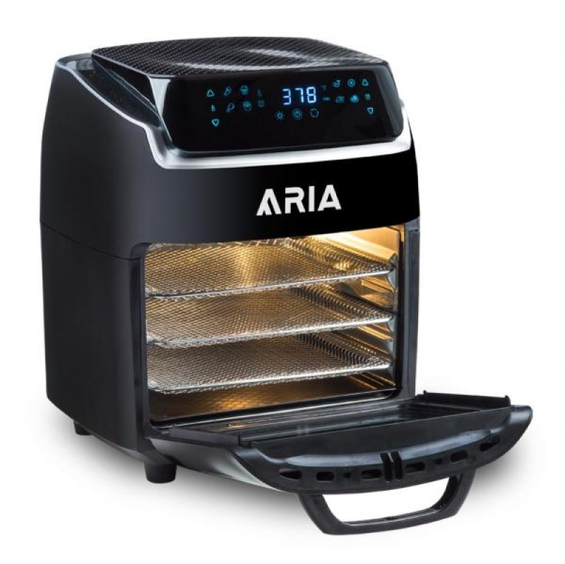 ihocon: ARIA Aria 10 Qt. Black AirFryer with Recipe Book 氣炸鍋