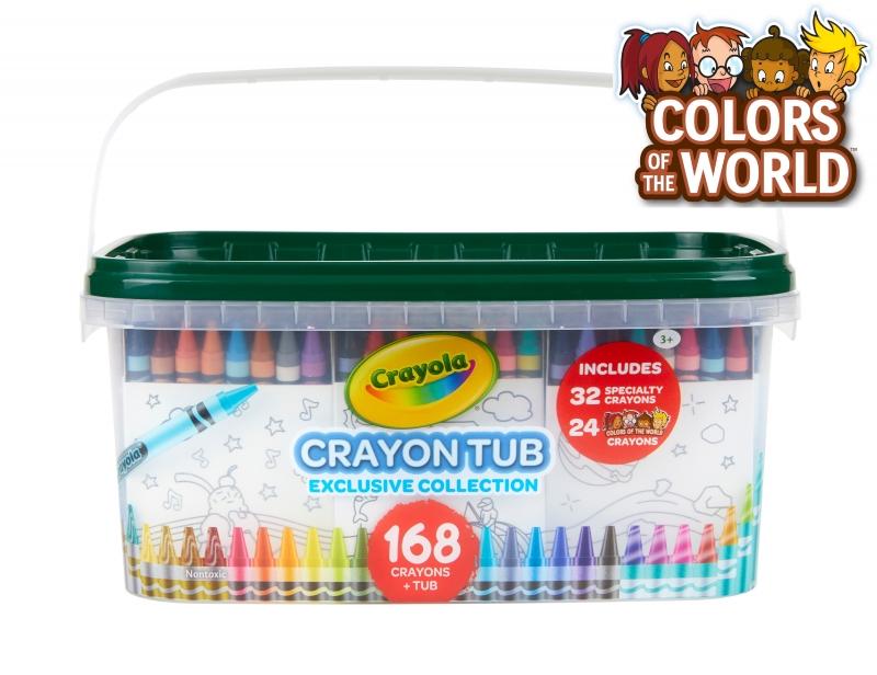 ihocon: Crayola Crayon and Storage Tub, 168 Crayons 蠟筆