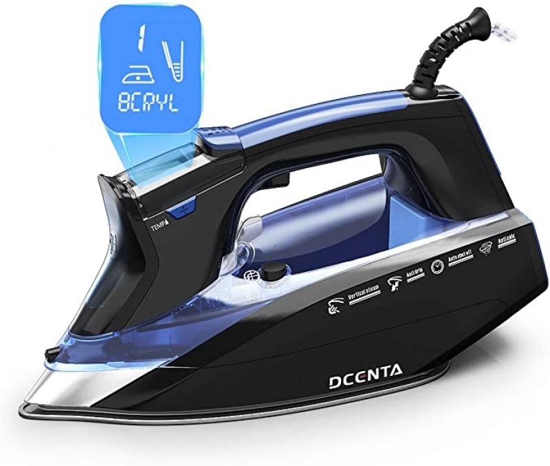 ihocon: Dcenta LCD Screen Steam Iron, 11 Temperature and Fabric Settings蒸汽熨斗