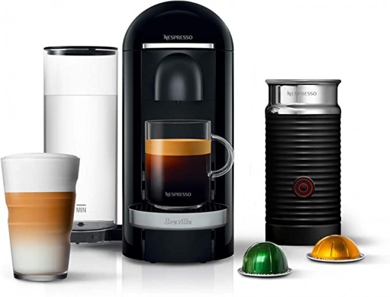 ihocon: Nespresso VertuoPlus Deluxe Coffee and Espresso Machine Bundle with Aeroccino Milk Frother by Breville