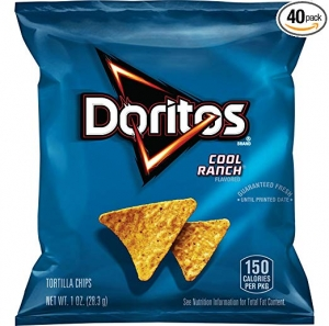 ihocon: Doritos Cool Ranch Flavored Tortilla Chips, 1 Ounce (Pack of 40)