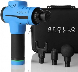 ihocon: Apollo Kinetics Deep Tissue Massage Gun, 4 Heads & Carry Case Included 深層按摩槍