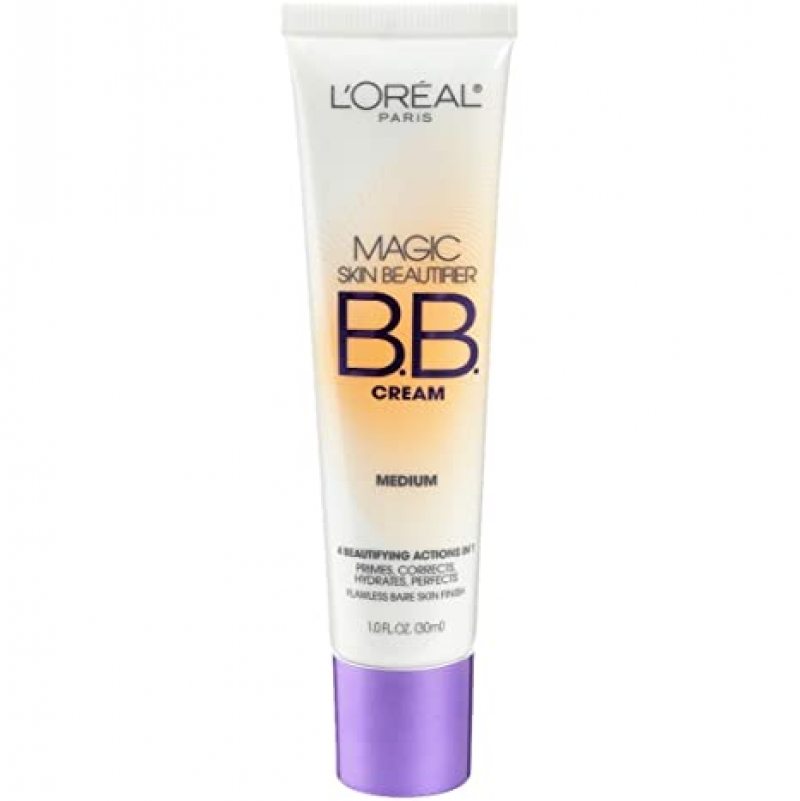 ihocon: L'Oréal Paris Makeup Magic Skin Beautifier BB Cream Tinted Moisturizer Face Makeup, 1 fl. oz.