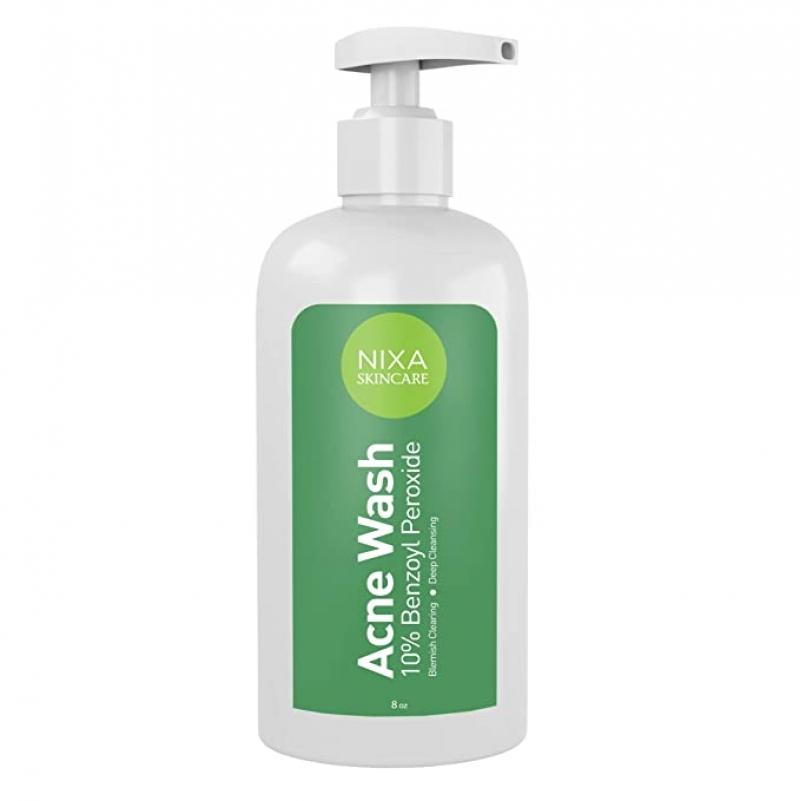 ihocon: Nixa Skincare 10% Benzoyl Peroxide Wash, 8oz.青春痘洗面乳