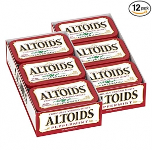 ihocon: ALTOIDS Classic Peppermint Breath Mints, 1.76-Ounce Tin (Pack of 12) 薄荷含片
