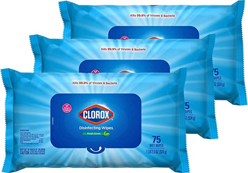 ihocon: Clorox Disinfecting Wipes, 75 Wipes, Pack of 3 消毒濕巾
