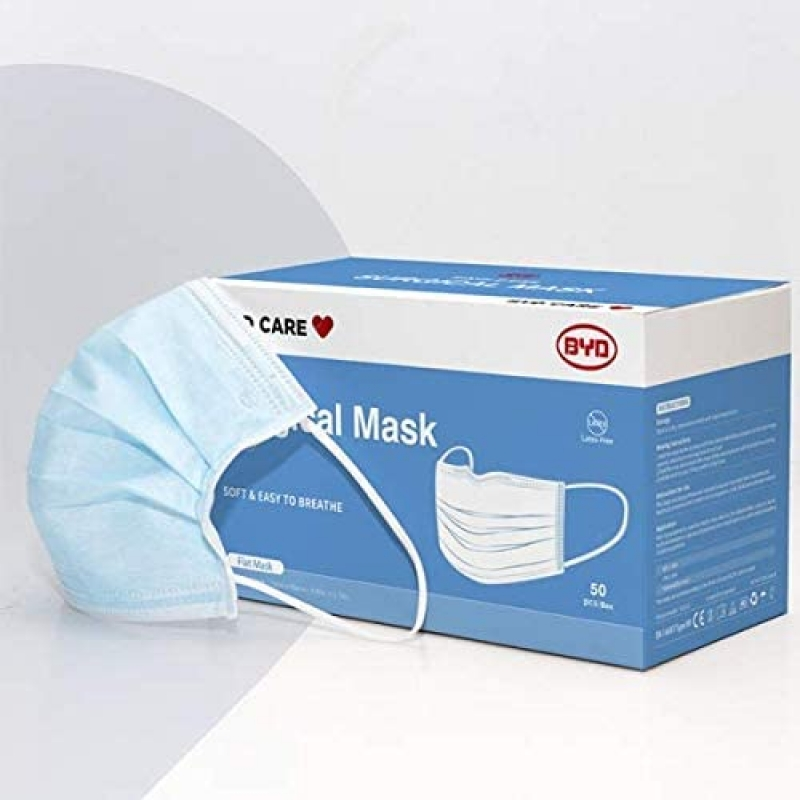 ihocon: BYD 比亞迪 Single-use Level II Ear Loop Mask, Non-sterile, Appropriate for medical or personal use (50) 一次性口罩