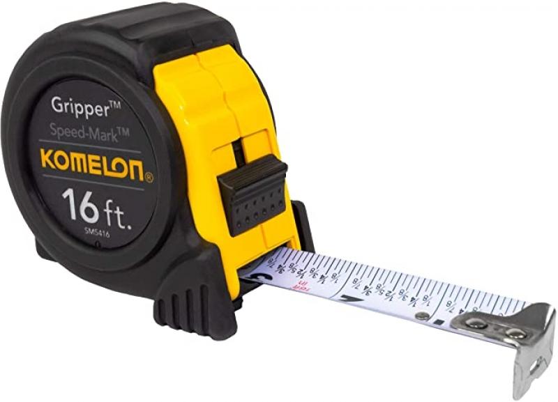 ihocon: Komelon SM5416 Speed Mark Gripper Acrylic Coated Steel Blade Tape Measure 16-feet by 1-Inch 測量捲尺