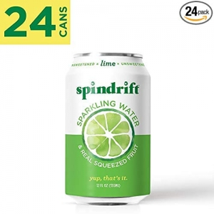 ihocon: Spindrift Sparkling Water, Lime Flavored, Made with Real Squeezed Fruit, 12 Fluid Ounce, Pack of 24 水果口味汽泡水