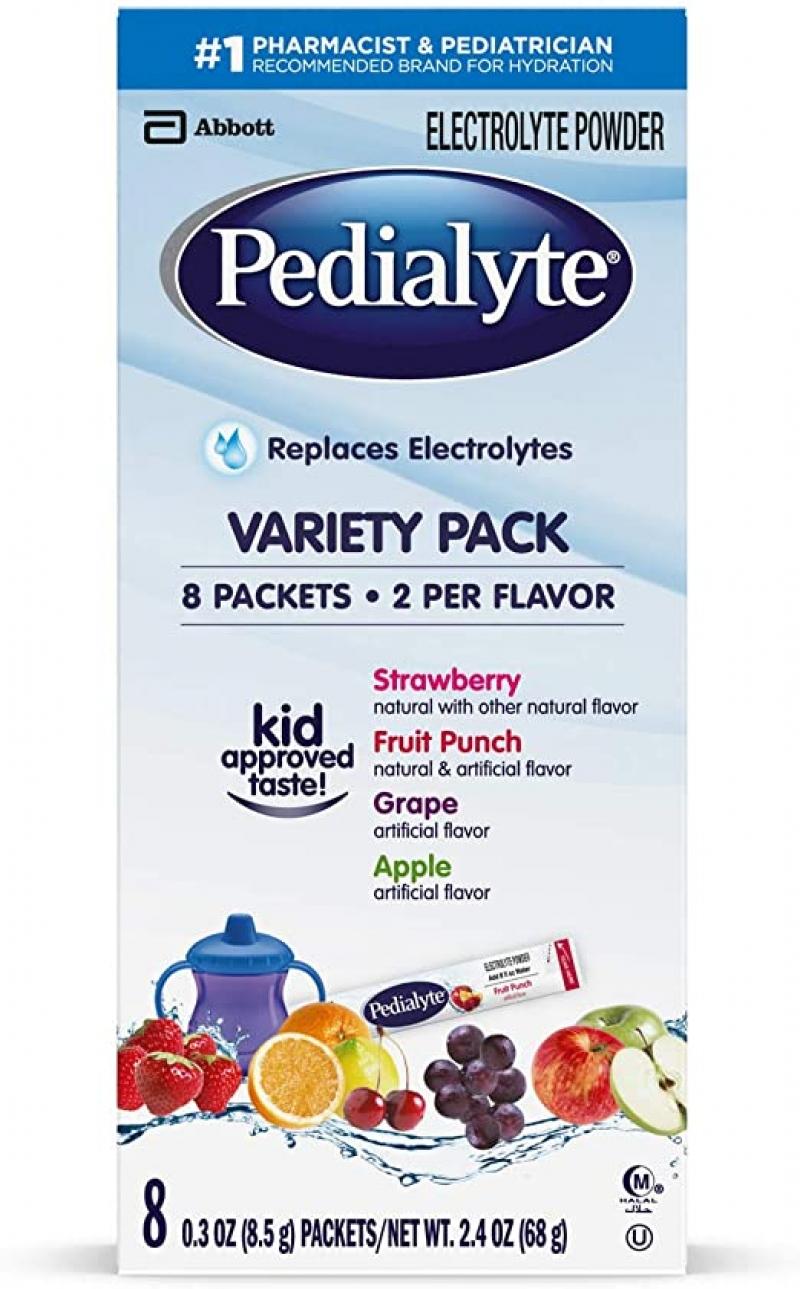 ihocon: Pedialyte Electrolyte Powder, 0.3 Oz Powder Packs, 8 Count 兒童電解質沖泡粉