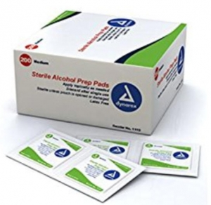 ihocon: Dynarex Alcohol Prep Pad Sterile, Medium (Pack of 200) 酒精消毒片