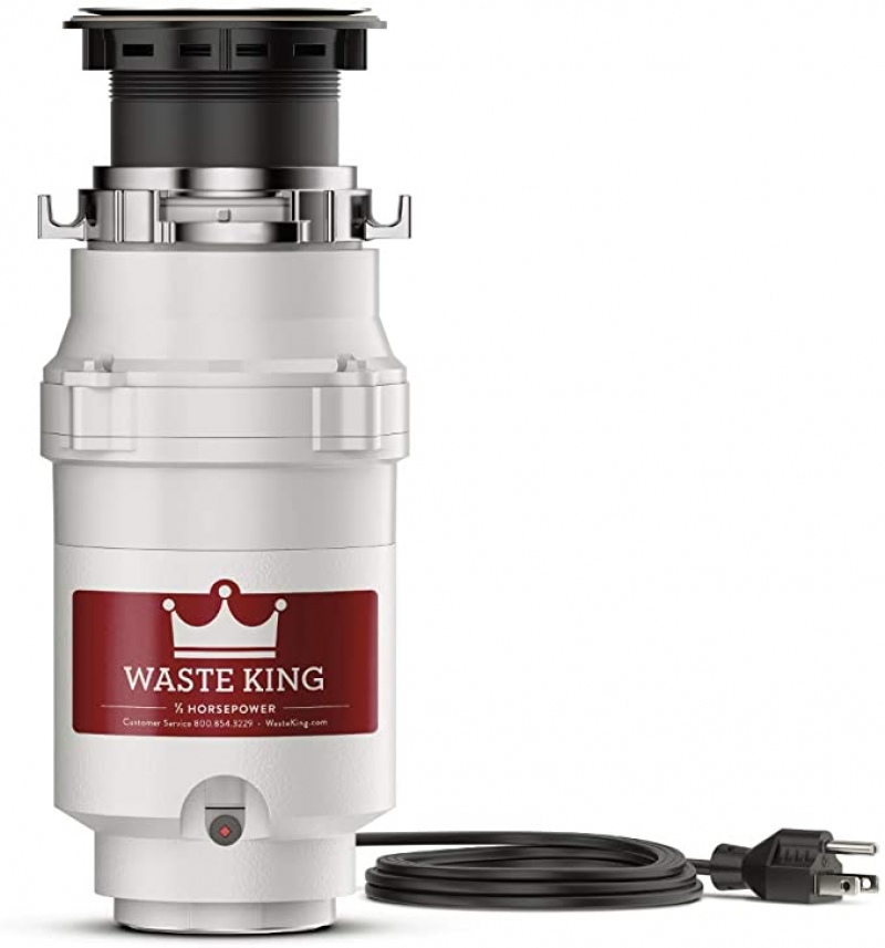 ihocon: Waste King L-1001 Garbage Disposal with Power Cord, 1/2 HP 廚餘處理機