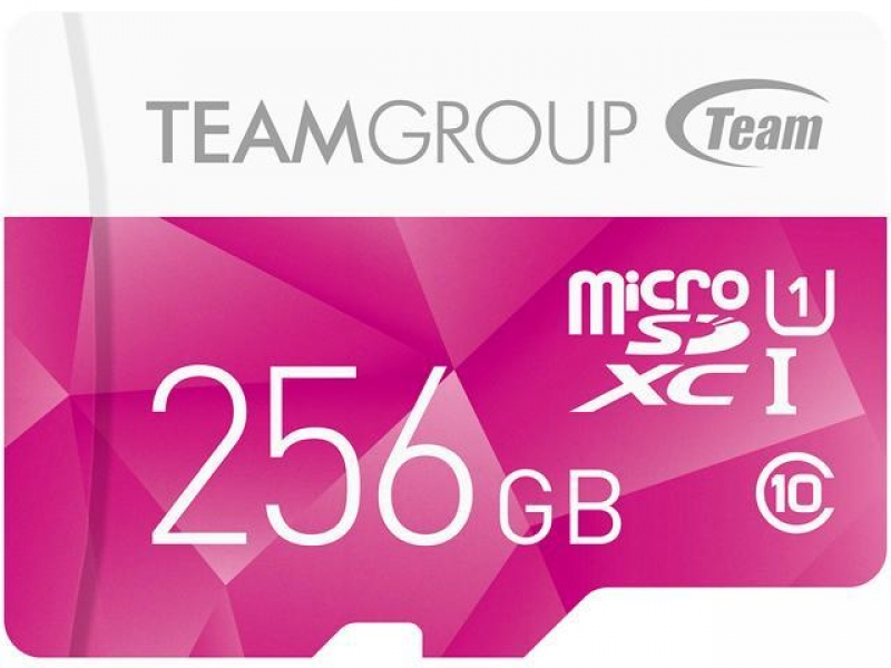 ihocon: Team Group Color Card 256GB Class 10 533x microSDXC Memory Card with Adapter
