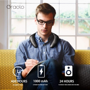 ihocon: Oraolo Neckband Bluetooth Speakers with True 3D Stereo Sound頸掛式藍牙揚聲器